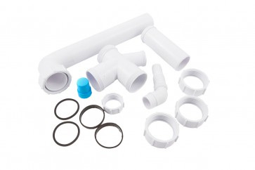 Bowl & Half Sink Kit - White