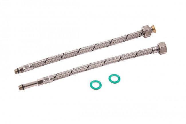female iron mono flexible tap connector pair. Black Bedroom Furniture Sets. Home Design Ideas