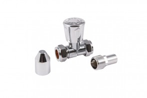 Straight Nut & Tail Radiator Valve - Chrome