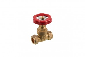 C X C Gatevalve - Brass 15mm