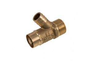Type A Drain-off Valve Lockshield - Brass