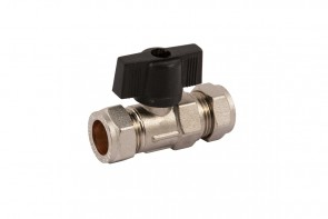 Heavy Pattern Isolating Valve & Handle - Chrome