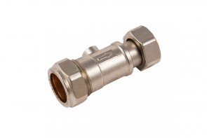 Straight Service Valve - Chrome