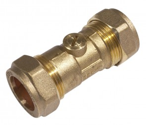 Light Pattern C X C Isolating Valve - Brass