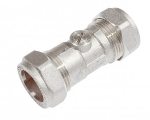 Light Pattern C X C Isolating Valve - Chrome