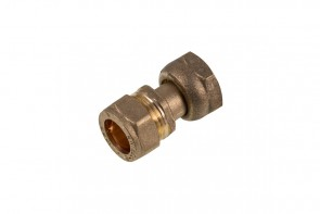 Compression Straight Tap Connector 15mm