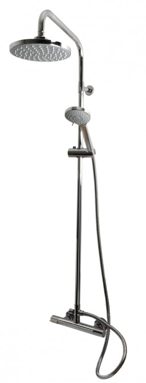 Thermostatic Round Head Complete Shower