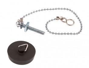 Black Plug & 12in Chain