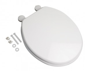 Woody Soft Close Toilet Seat - White