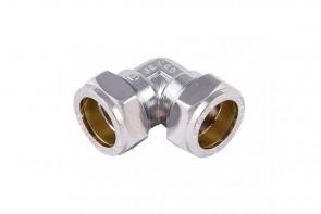 C X C Elbow - Chrome 22mm