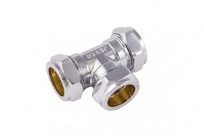 C X C Tee - Chrome 15mm