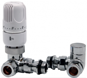 15mm Westherm Classic Corner TRV Twin Pack